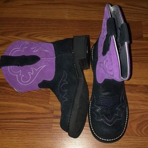 Never Worn Ariat Western Fatbaby Purple Boots